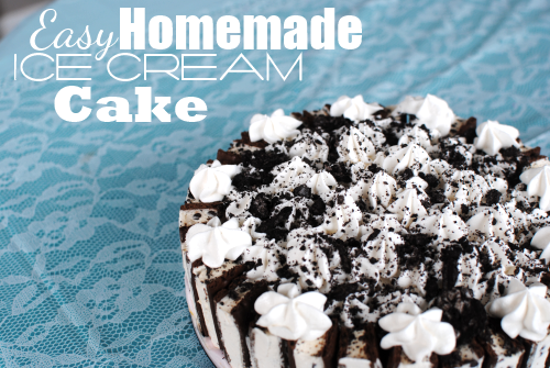 Gathering Recipes: Homemade Ice Cream Cake